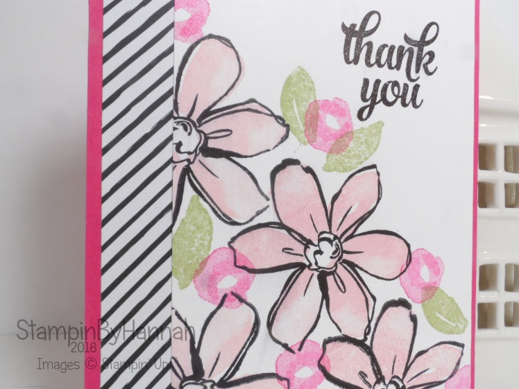 Garden in Bloom Tin of Cards Thank You Card Stampin' Up! UK