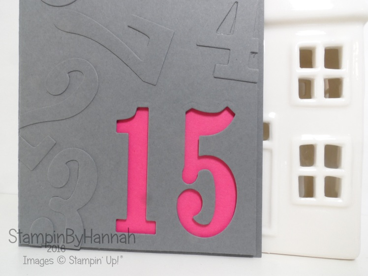Birthday card using Large Numbers Framelits from Stampin' Up! UK