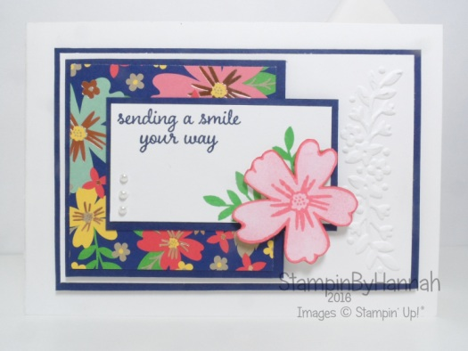 Sending a Smile Card featuring Love and Affection from Stampin' Up! UK