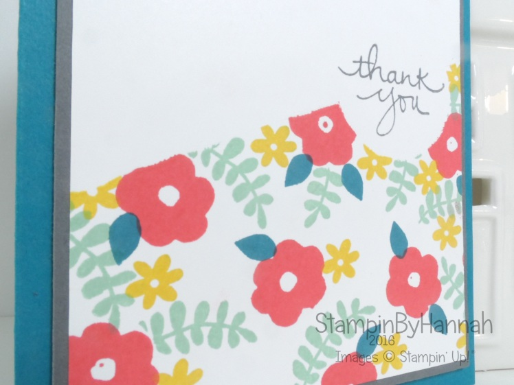 Make it Monday Endless Thanks small stamps background using Stampin' Up! products
