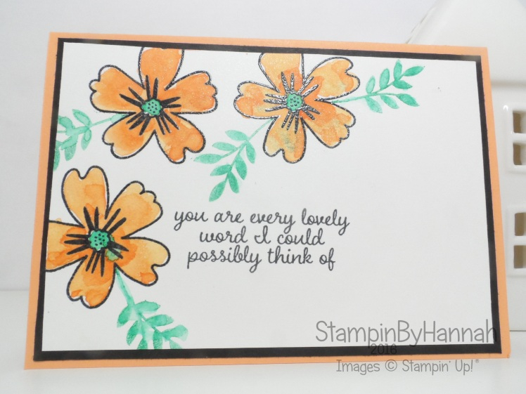 Peekaboo Peach Love and Affection card using Stampin' Up! UK Products