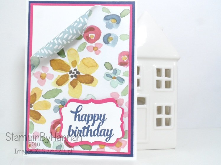 Simply Sketched Saturday Challenge English Garden Birthday card using Stampin' Up! products