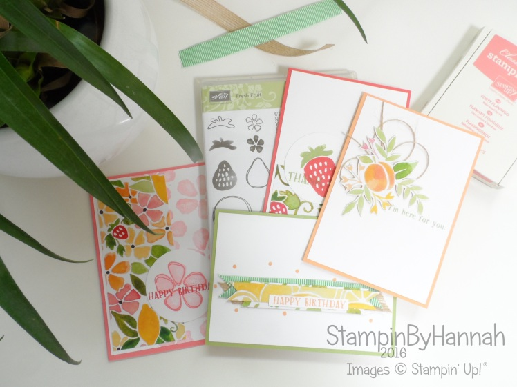 Fresh Fruit Card making class online using Stampin' Up! UK products