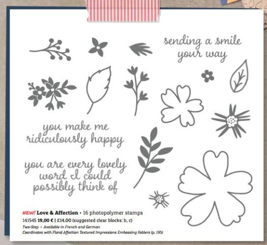 Stampin' Up! Love and Affection Stamp of the Month Club