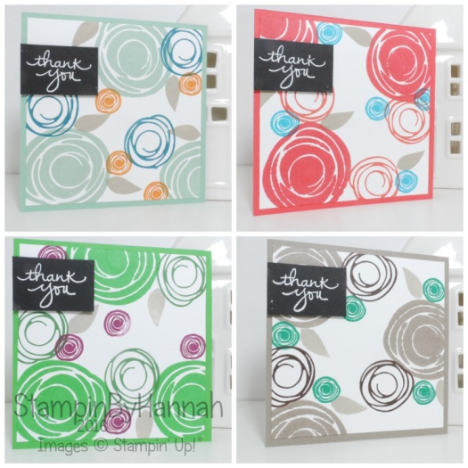 Make It Monday Create your own Patterned Paper with Stamps using Swirly Bird from Stampin' Up! UK