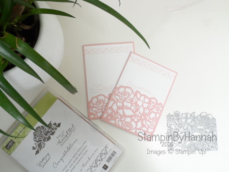 congratulations cards using Floral Phrases bundle from Stampin' Up! UK
