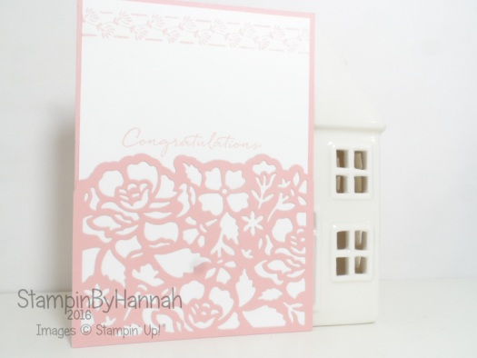 Make It Monday floral phrases congratulations card video tutorial using Stampin' Up! UK products