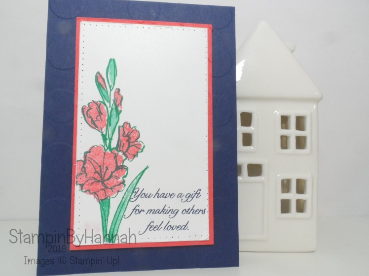 Gift of Love Hostess Exclusive 2 step stamping card using Stampin' Up! UK products