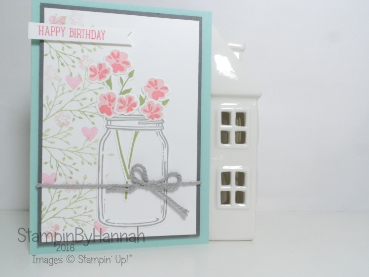 Birthday card using Jar of Love from Stampin' Up! UK
