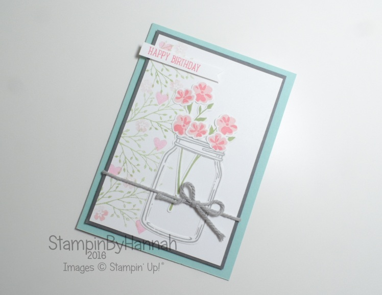 Jar of Love Birthday Card using Stampin' Up! Uk Products