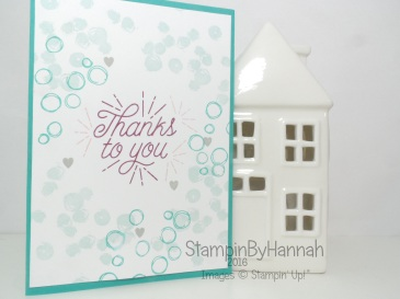 Designer Tin of Cards Playful Backgrounds Thank you card featuring Stampin' Up! UK products