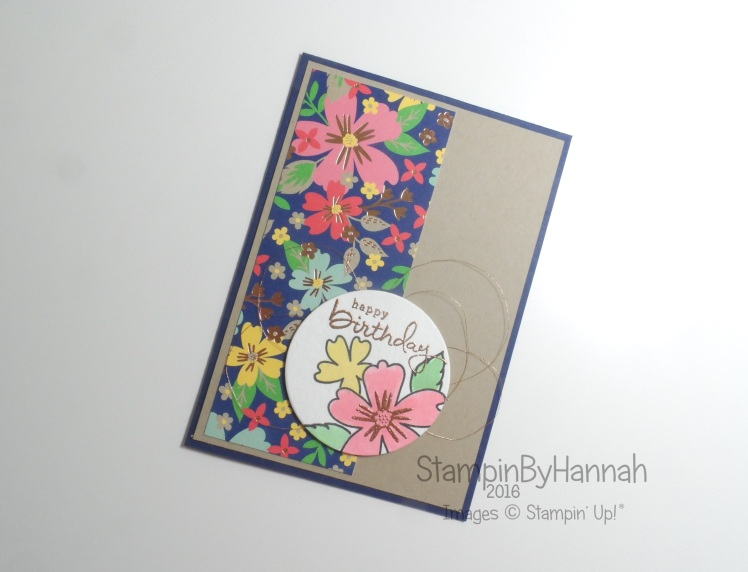 Simply Sketched Saturday Challenge Love and Affection Birthday Card Stampin' Up! Uk