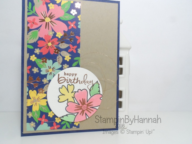 Birthday card using Love and Affection from Stampin' Up! UK