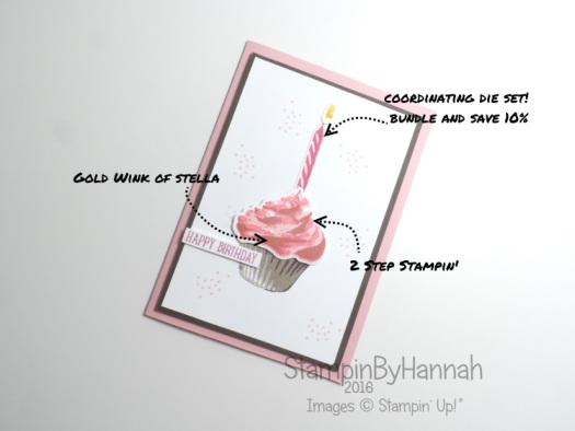 Sweet Cupcake Birthday Card Stampin' Up! Uk