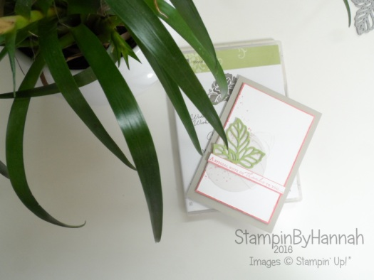A special thank you card featuring floral phrases and Rose Wonder from Stampin' Up! UK