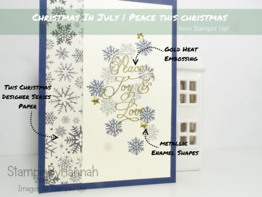 Christmas in July using Peace this Christmas from Stampin' Up! Uk
