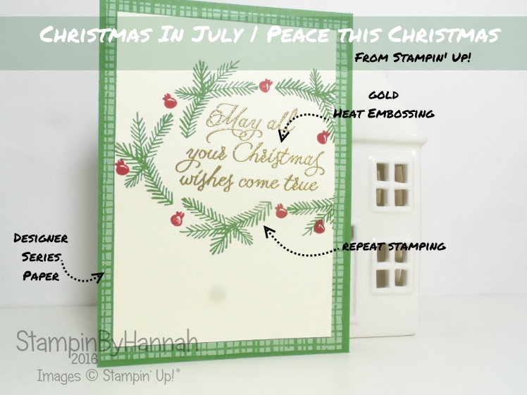 Christmas in July card using Peace this Christmas from Stampin' Up! UK