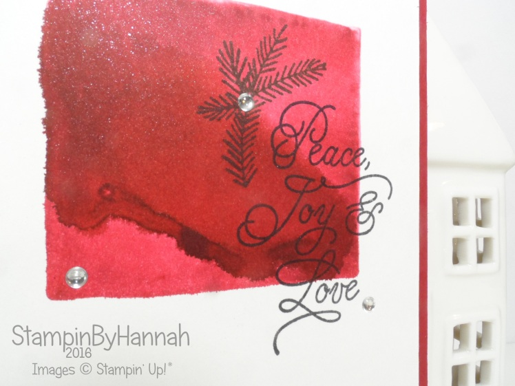 Christmas in july watercolour stamping peace this christmas