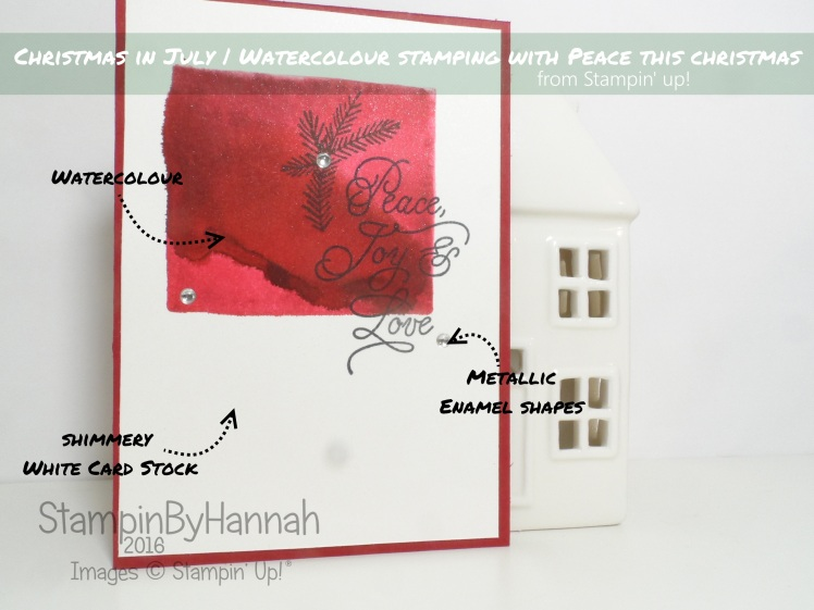 Christmas In July Featuring Watercolour Peace This Christmas from Stampin' Up! Uk