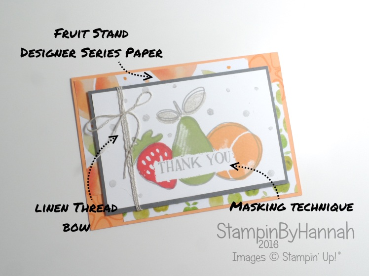 Fresh Fruit Thank you card using Stampin' Up! UK products