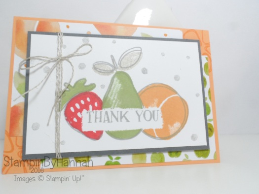 Simple Thank You card featuring Fresh Fruit from Stampin' Up! UK
