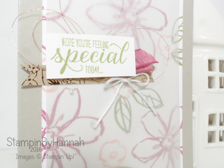 Garden in Bloom Birthday Card using Stampin' Up! UK products