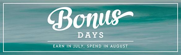 Stampin' Up! shopping offer Bonus Days July 2016