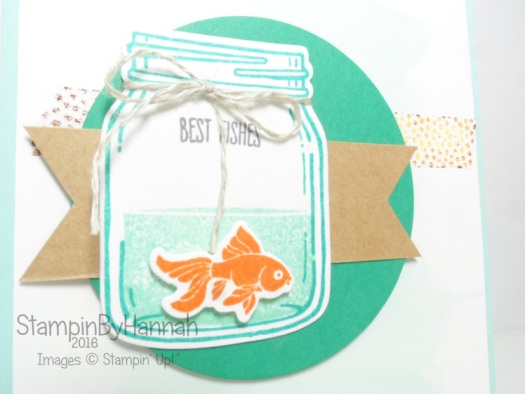 Jar of Love goldfish card using Stampin' Up! UK products