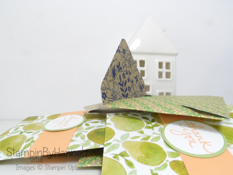 Summer Customer Thank You Gifts Teanbag envelopes Make it Monday Video tutorial using Stampin' Up! UK Designer Series Paper