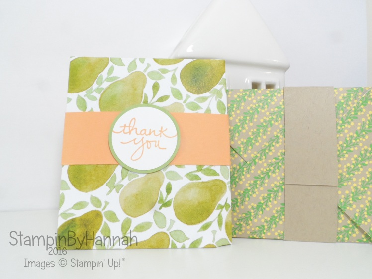 Make It Monday featuring Fruit Stand Designer Series Paper from Stampin' Up! UK for Summer Customer Thank You Gifts