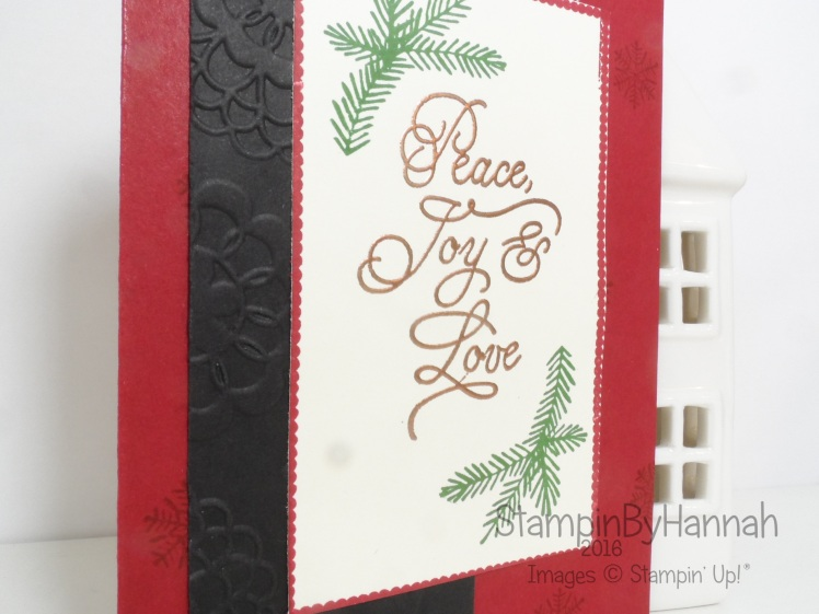 Make It Monday Video Tutorial Peace this christmas from Stampin' Up!