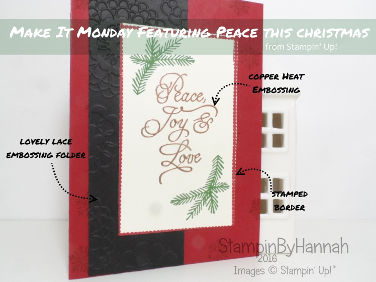 Make It Monday Featuring Peace this Christmas from Stampin' Up! UK