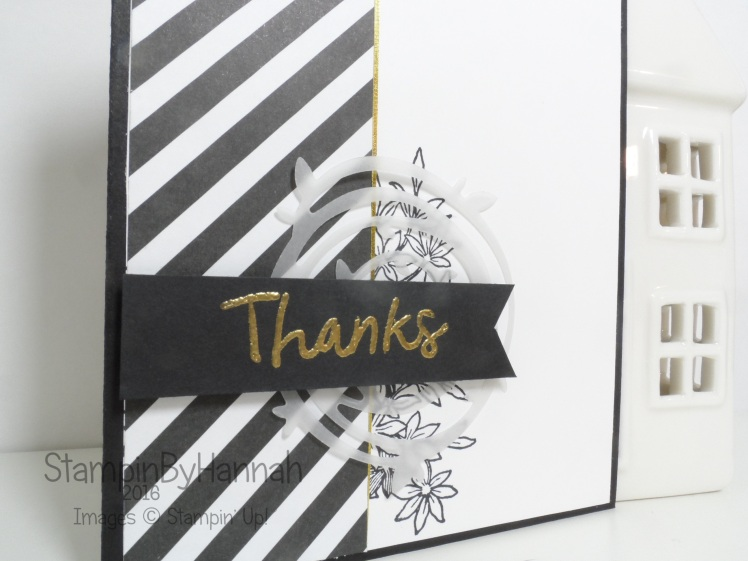 Thankful Thoughts Thank You Card using Awesomely Artistic From Stampin' Up! UK