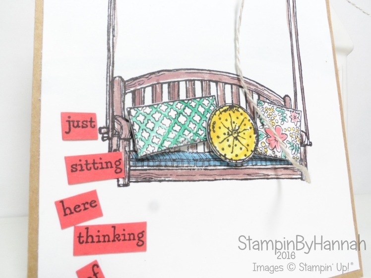 Simple Card CASE featuring Sitting Here from Stampin' Up! UK