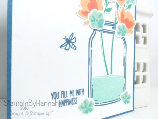 You Fill Me with Happiness Card using Jar of Love from Stampin' Up!