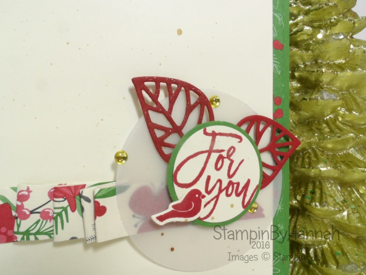Christmas Card for you using Thoughtful Branches from Stampin' Up! UK
