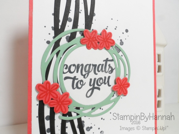 Congrats to you card featuring Tin of Cards and Swirly Bird from Stampin' Up! UK