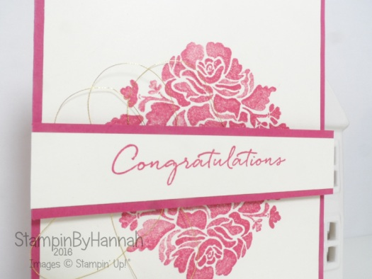 Congratulations card using Floral Phrases from Stampin' Up!