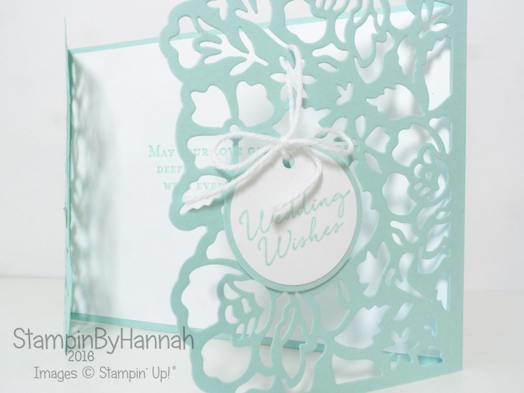 Floral Phrases Wedding Card using Stampin' Up! UK products