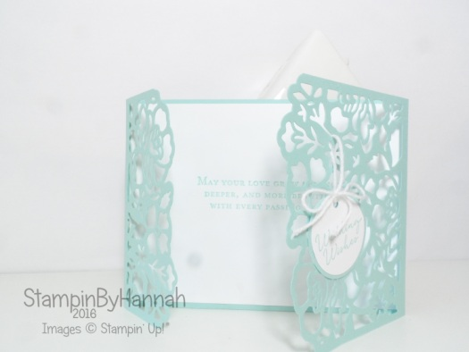 Wedding Congratulations Card using Floral Phrases and Detailed Floral Thinlits dies from Stampin' Up! UK
