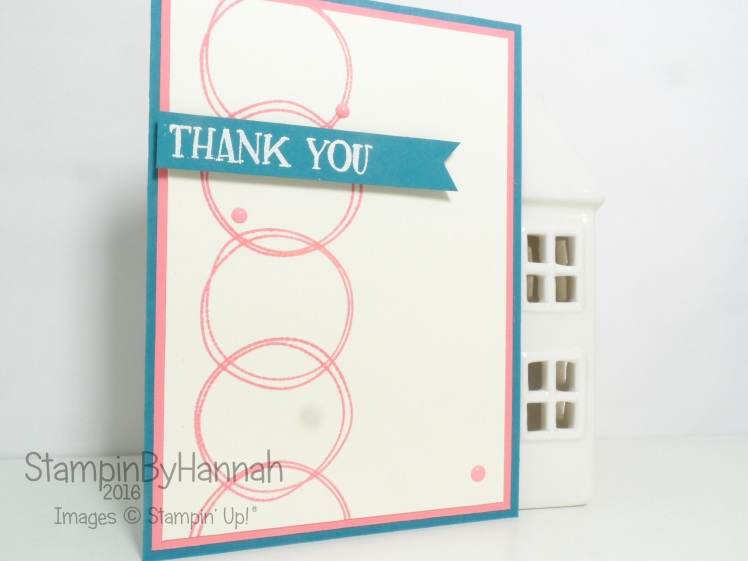 Thank you card using Fresh Fruit from Stampin' Up! UK