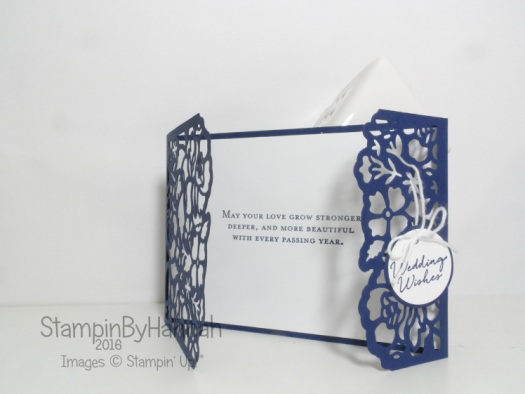 Wedding Congratulations card using Floral Phrases and detailed Floral dies from Stampin' Up! UK