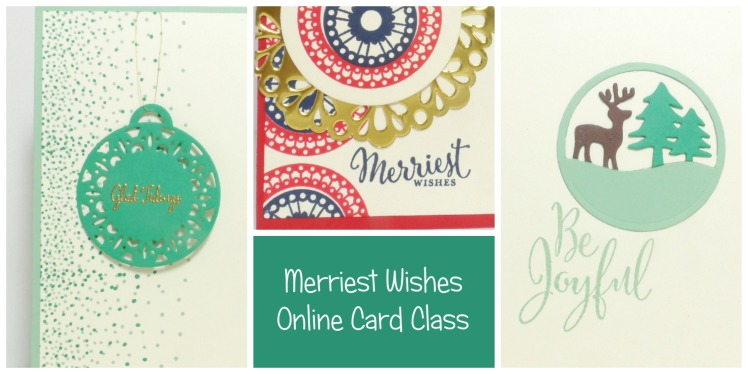 September Stamp of the Month Club Online Card Class using Merriest Wishes from Stampin' Up! UK