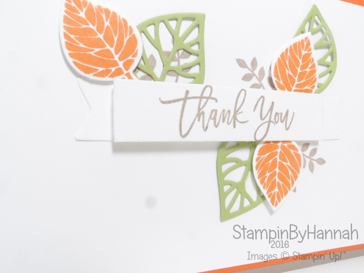 Simple Thank You card using Thoughtful Branches from Stampin' Up! UK