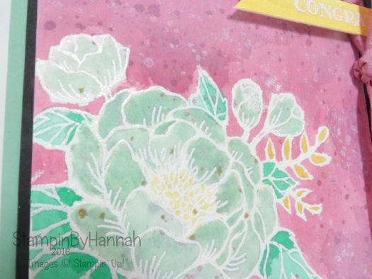 Birthday Blooms Watercolour Congratulations card Stampin' Up! UK