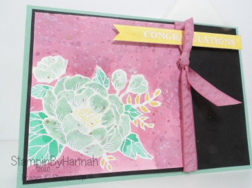 Watercolour Congratulations Card using Birthday Blooms from Stampin' Up! UK