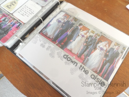 Wedding themed scrapbook album using Stampin' Up! UK products