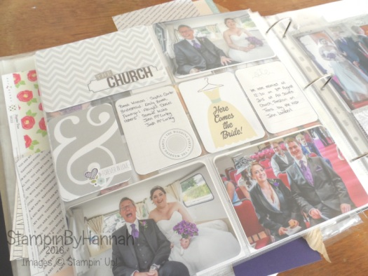 Wedding themed Scrapbook using Project Life and traditional scrapbook pages