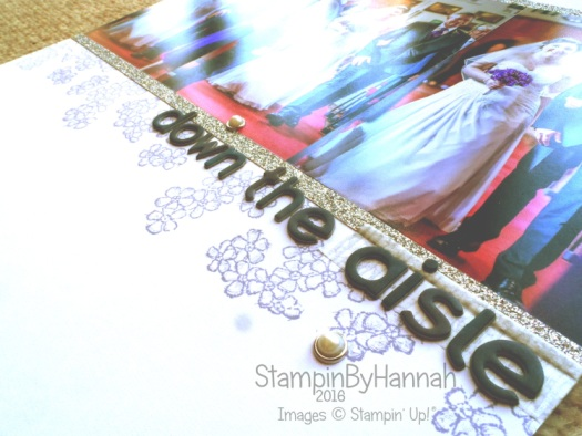 Wedding scrapbook layout using Stampin' Up! UK products