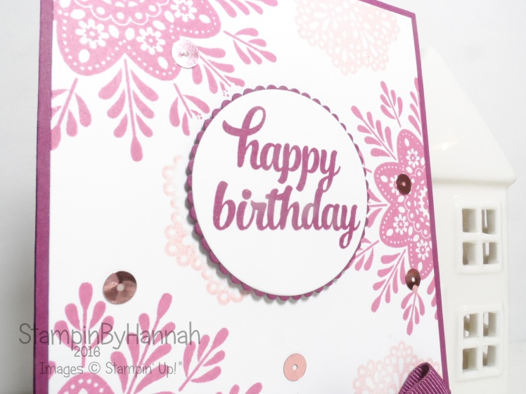 Tin of Cards Frosted Medallions Birthday card using Stampin' Up! UK products